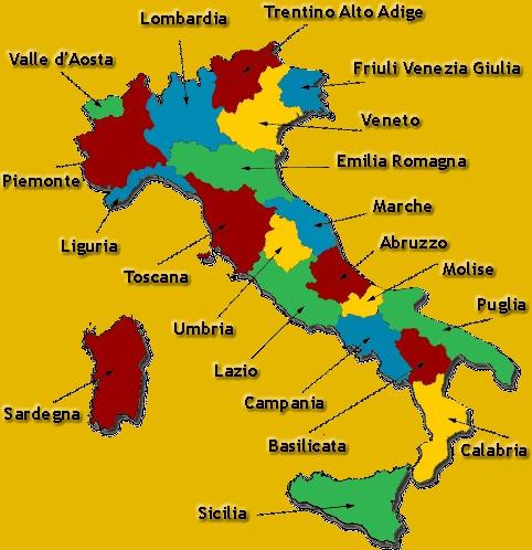 Italian Regions Italian Food Decoder App