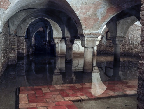Flooded crypt