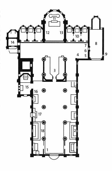 Floor plan of the Frari